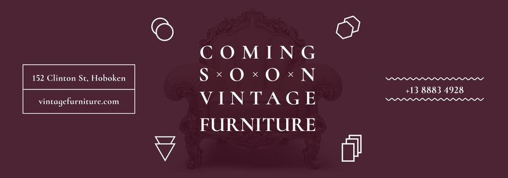 Coming soon vintage furniture shop — Crea un design