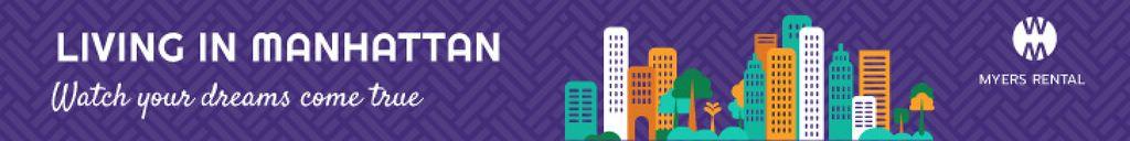 Manhattan real estate banner — Создать дизайн