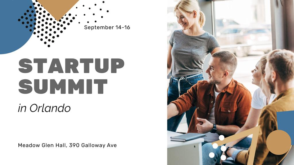 Startup Summit announcement Colleagues working Together - Bir Tasarım Oluşturun