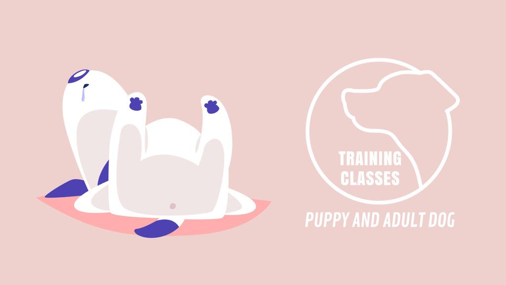 Dog Training Classes Funny Puppy Sleeping — Créer un visuel