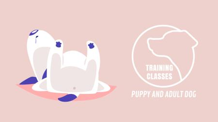 Template di design Dog Training Classes Funny Puppy Sleeping Full HD video