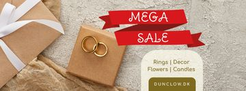 Wedding Store Sale with Golden Rings