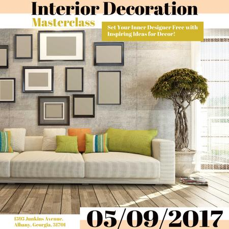 Template di design Interior decoration masterclass with Sofa in room Instagram AD