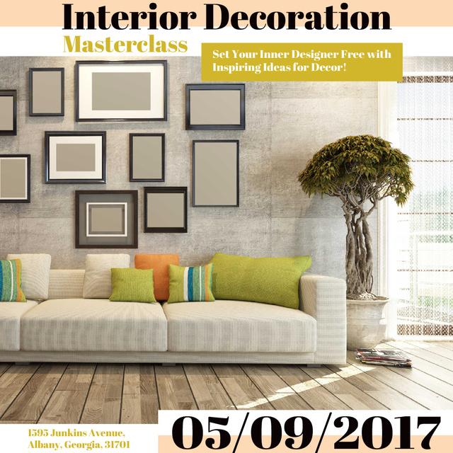 Modèle de visuel Interior decoration masterclass with Sofa in room - Instagram AD