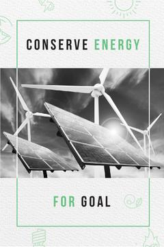 Green Energy Wind Turbines and Solar Panels | Pinterest Template