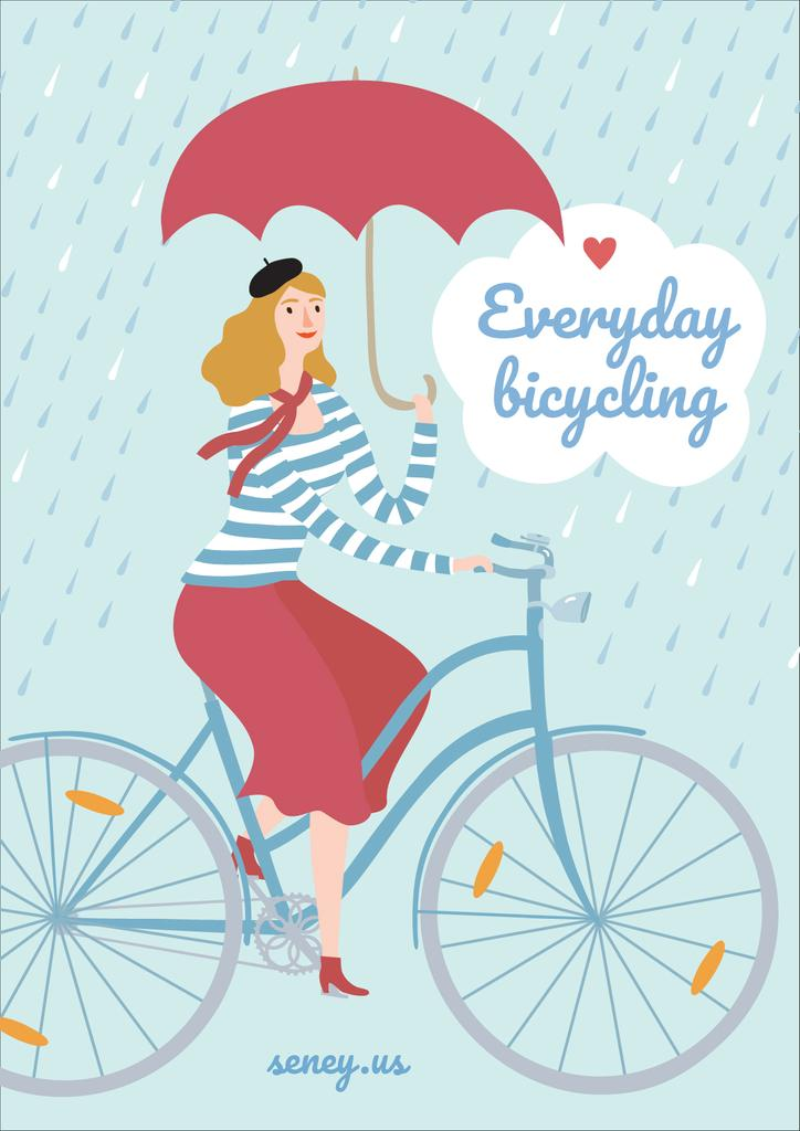 Everyday bicycling illustration — Crea un design