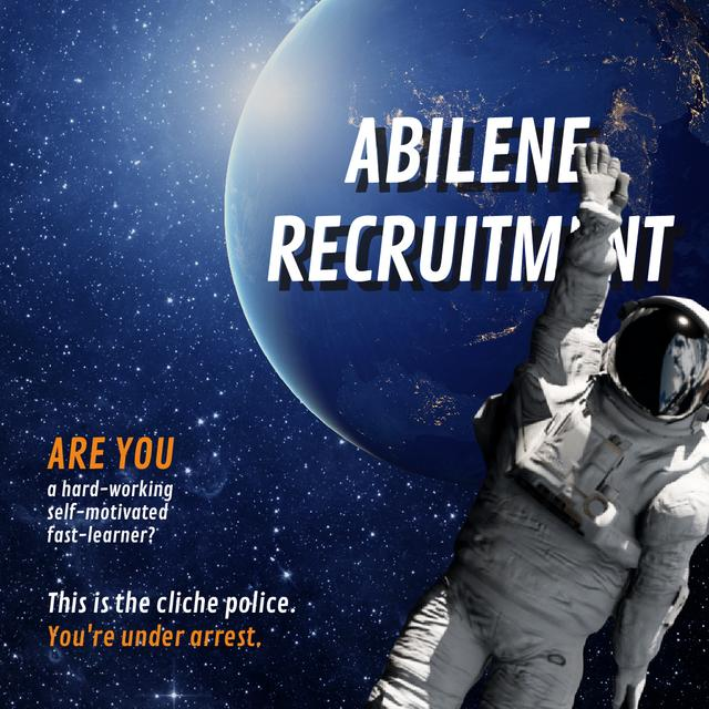 Astronaut in outer Space Animated Post Design Template