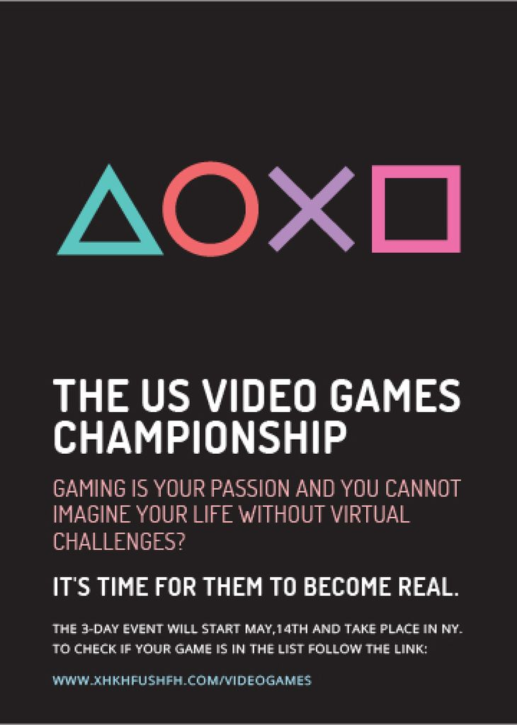 Video Games Championship announcement — Crea un design