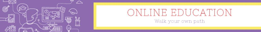 Online education banner Leaderboard Modelo de Design