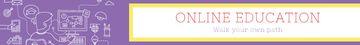 Online education banner