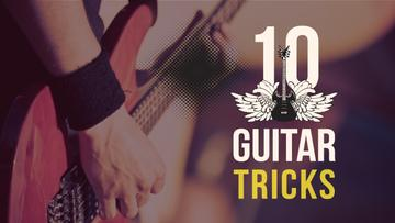 Guitar Tricks Ad Man Playing Guitar | Youtube Thumbnail Template