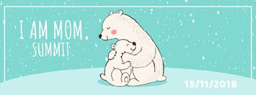Polar Bear Hugging Its Mom | Facebook Video Cover Template