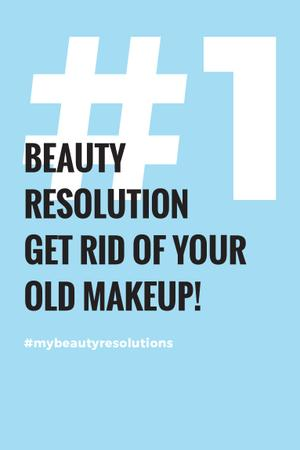 Template di design Beauty resolution Announcement Pinterest