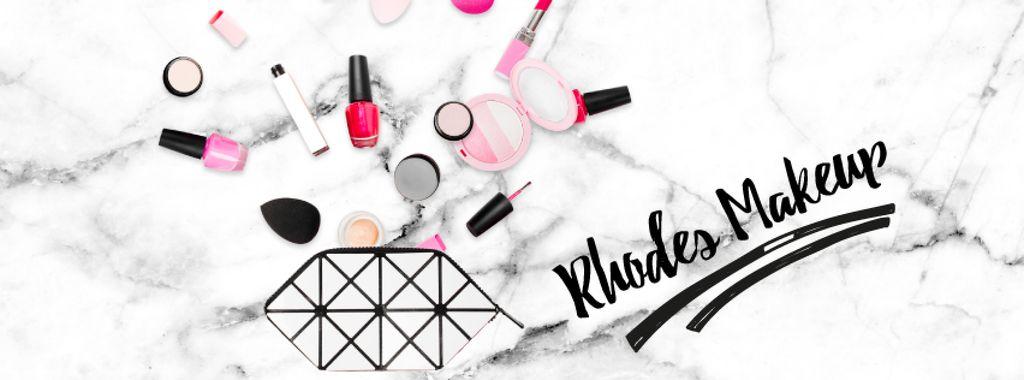 Beauty products filling cosmetic bag — Создать дизайн