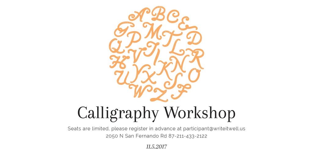 Calligraphy workshop poster - Bir Tasarım Oluşturun