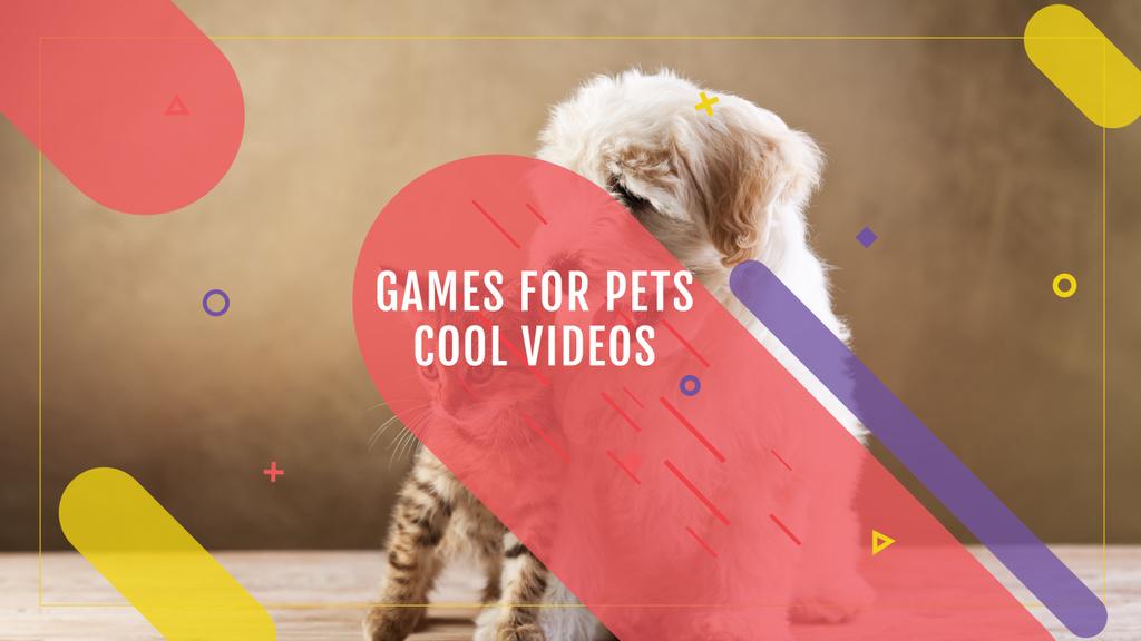 Games for Pets Cute Dog and Cat | Youtube Channel Art — Créer un visuel