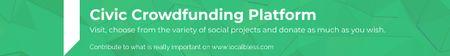 Plantilla de diseño de Civic Crowdfunding Platform Leaderboard