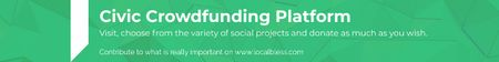 Template di design Civic Crowdfunding Platform Leaderboard