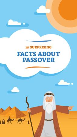 History of Passover Jewish holiday Instagram Story Modelo de Design
