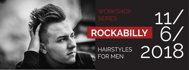 Template di design Workshop series with Attractive Man Facebook cover
