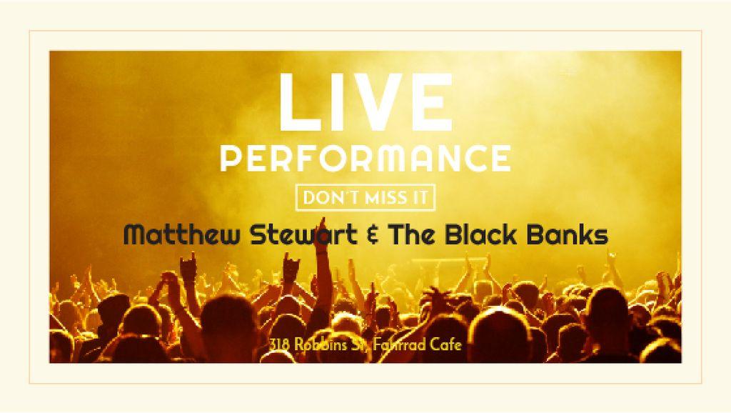 Modèle de visuel Live Performance Announcement Crowd at Concert - Title