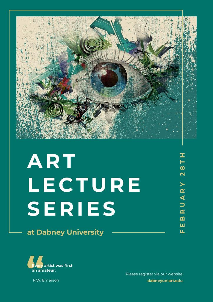 Art Lectures Invitation Creative Eye Painting — Créer un visuel