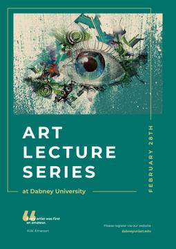 Art Lectures Invitation Creative Eye Painting