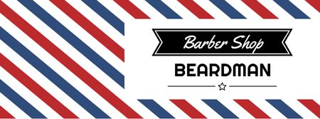 Barbershop Ad with Striped Lamp Facebook cover – шаблон для дизайну