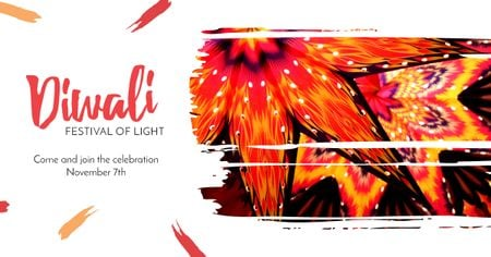 Happy Diwali celebration Facebook AD Design Template