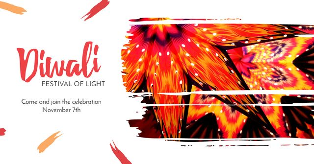 Modèle de visuel Happy Diwali celebration - Facebook AD