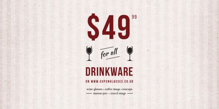 Template di design Drinkware Sale Glass with red wine Image