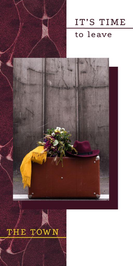 Travel Inspiration Vintage Suitcase — Modelo de projeto