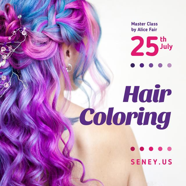 Modèle de visuel Girl with purple hair - Instagram