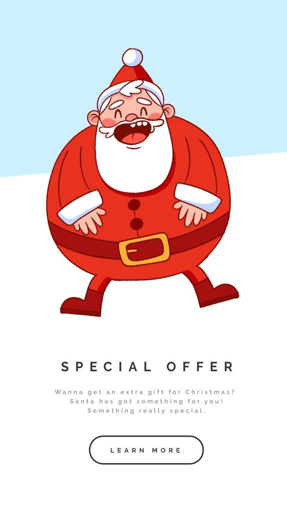 Happy laughing Santa — Design Template