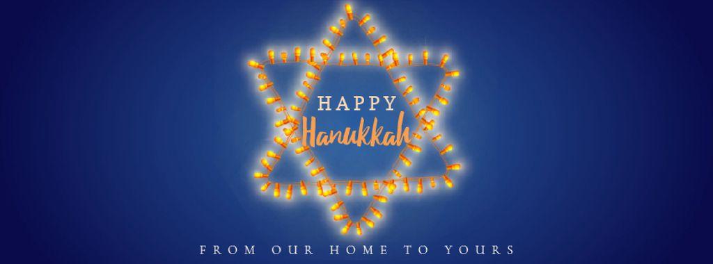 Happy Hanukkah greeting lights — Crear un diseño