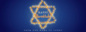 Happy Hanukkah greeting lights