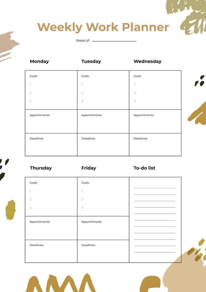 Weekly Work Schedule Planner — Створити дизайн