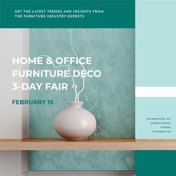 International furniture show with Decorative Vase