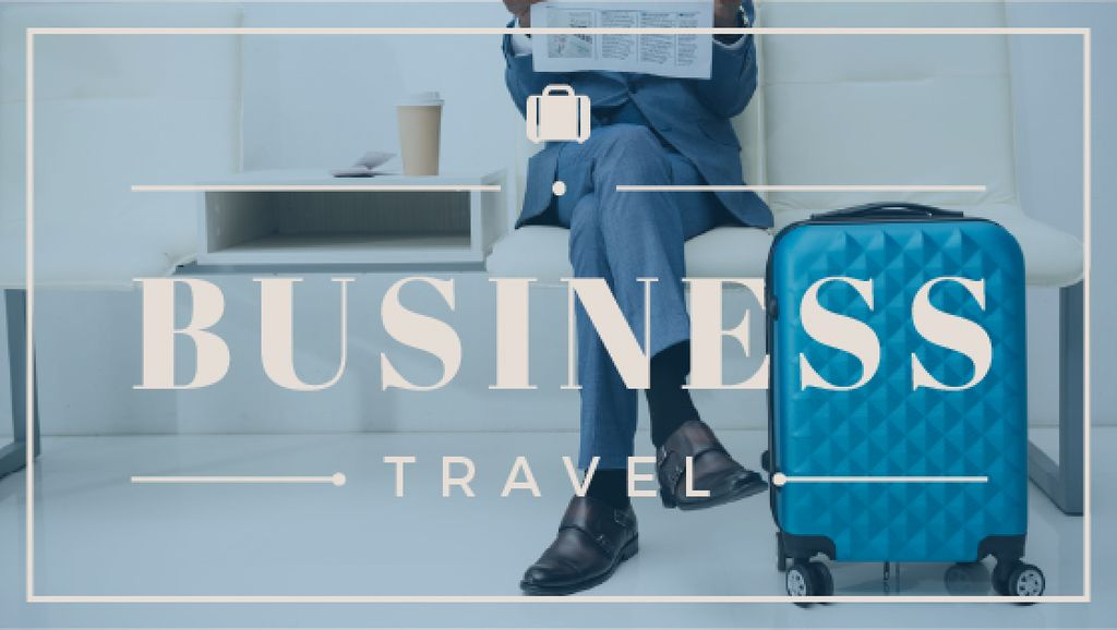 Businessman with Travelling Suitcase — Crear un diseño