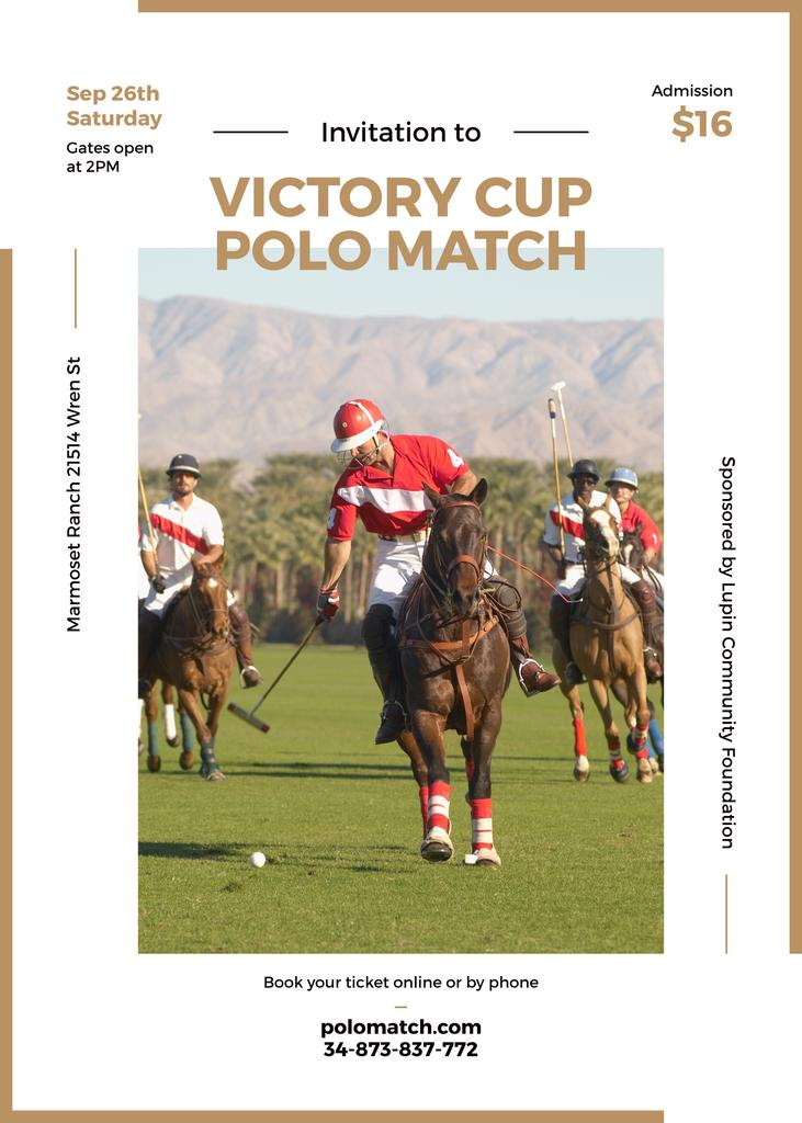 Invitation to polo match — Modelo de projeto