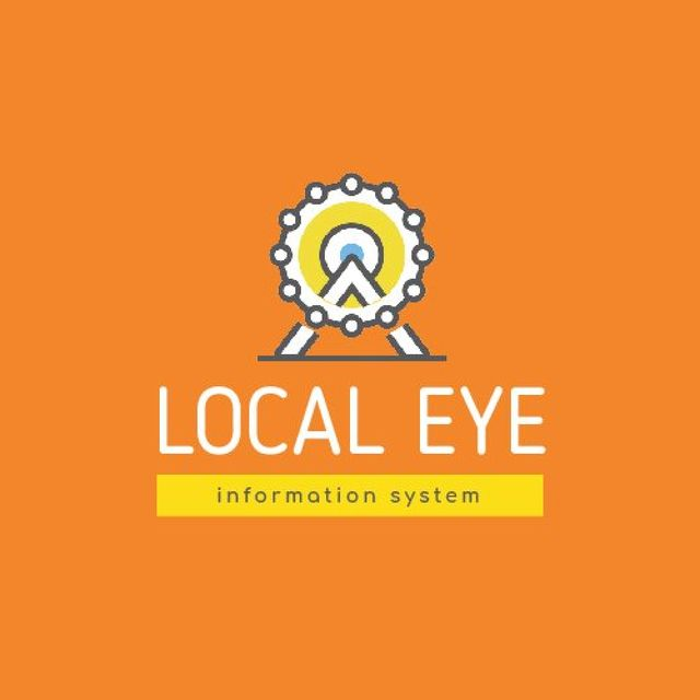 Plantilla de diseño de Ferris Wheel Icon in Yellow Animated Logo