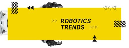 Modern robotics technology Facebook cover Modelo de Design