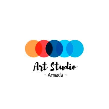 Art Studio Ad Colorful Circles