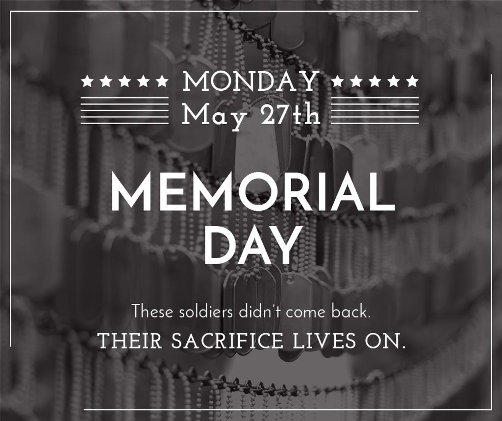 USA Memorial Day greeting — Crear un diseño