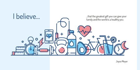 Template di design Healthcare and wellbeing icons Image