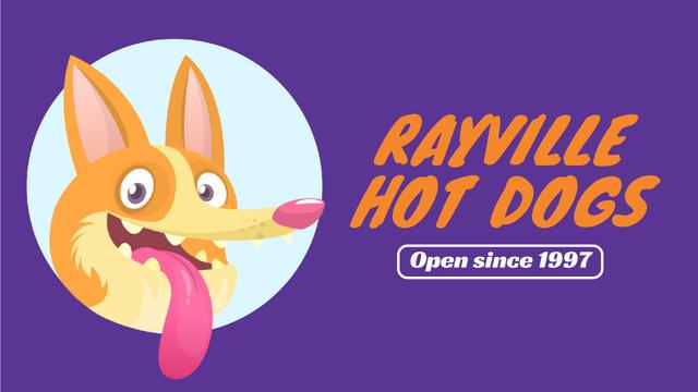 Happy Dog Showing Tongue Full HD video Modelo de Design