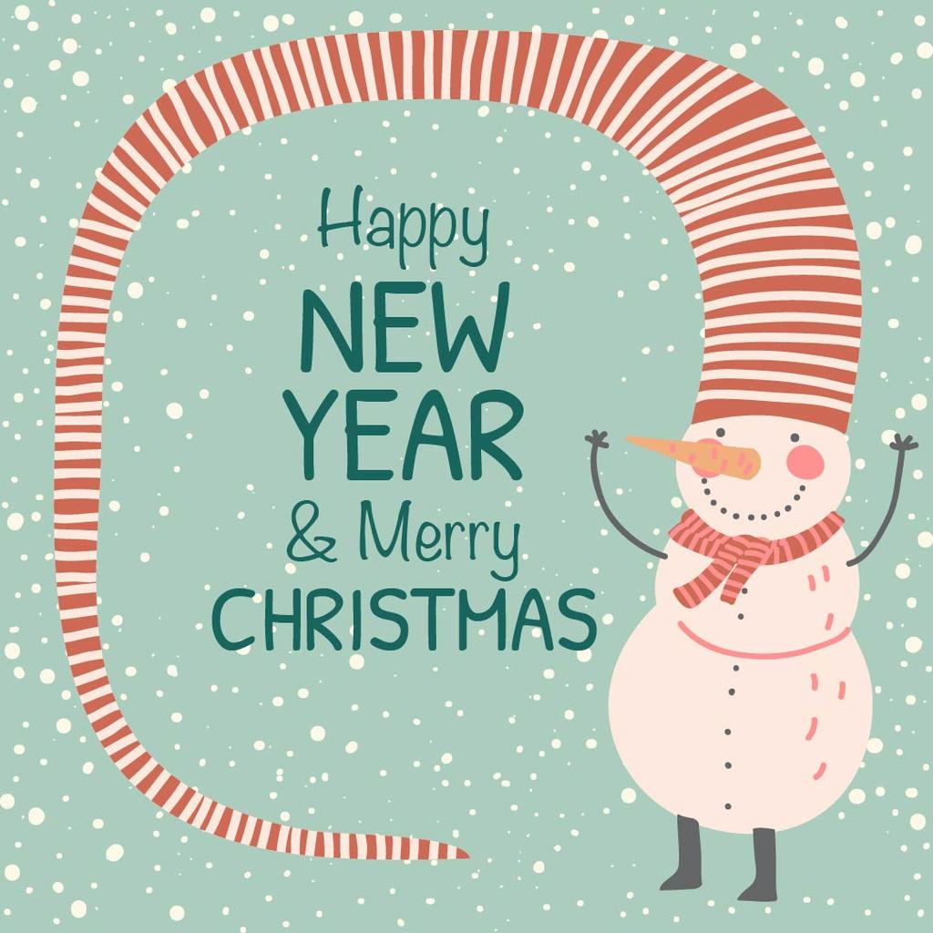 Happy New Year and Merry Christmas — Crear un diseño