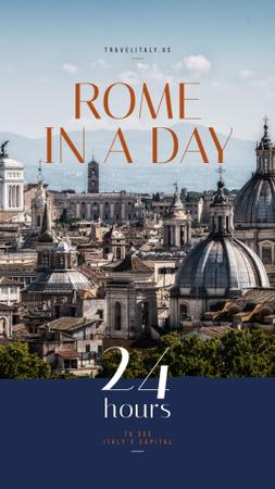 Rome city view Instagram Story Modelo de Design