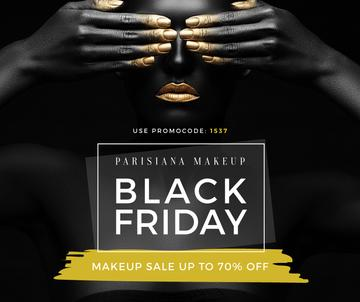 black Friday poster for makeup store