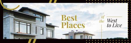 Designvorlage Modern houses facades für Twitter